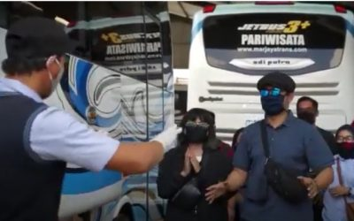 Penerapan Protokol Kesehatan Di PO Bus Marjayatrans 5/5 (1)